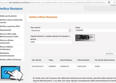 Poslední italská STK dostupná z veřejně dostupné databáze Ministerstva dopravy Itálie