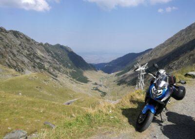 Motorka CFMOTO v Rumunsku